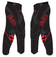 Faith Race Pants Black/Red Adult